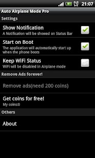 Auto Airplane Mode (Free) - screenshot