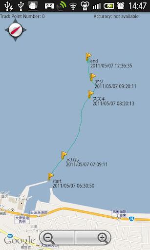GPSトラックログマップ