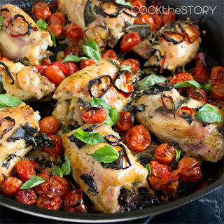 Baked Chicken with Tomatoes, Basil and Red Chillies (A.k.a. Maria's Chicken)