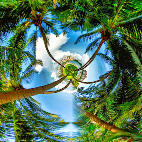 Circle In Paradise by Lye Danny - Digital Art Places