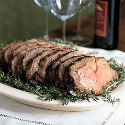 Rolled Beef Rib Roast with Horseradish Cream
