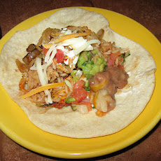 Cheesy Bacony Chicken Fajitas