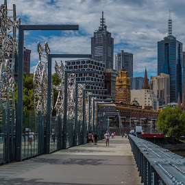 Melbourne Day by Sean Heatley - City,  Street & Park  Skylines ( sean heatley photography, melbourne, australia, bridge, public, city )