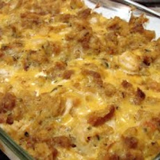 Chicken and Cornbread Stuffing Casserole