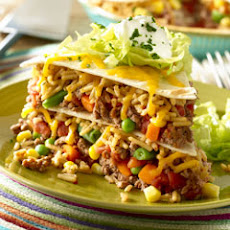 Beefy Vegetable Taco Pie
