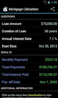 Screenshot of Mortgage Calculator (Pro)