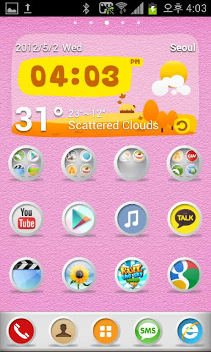 White Pastel go launcher theme