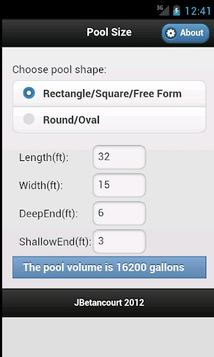 Swimming Pool Size