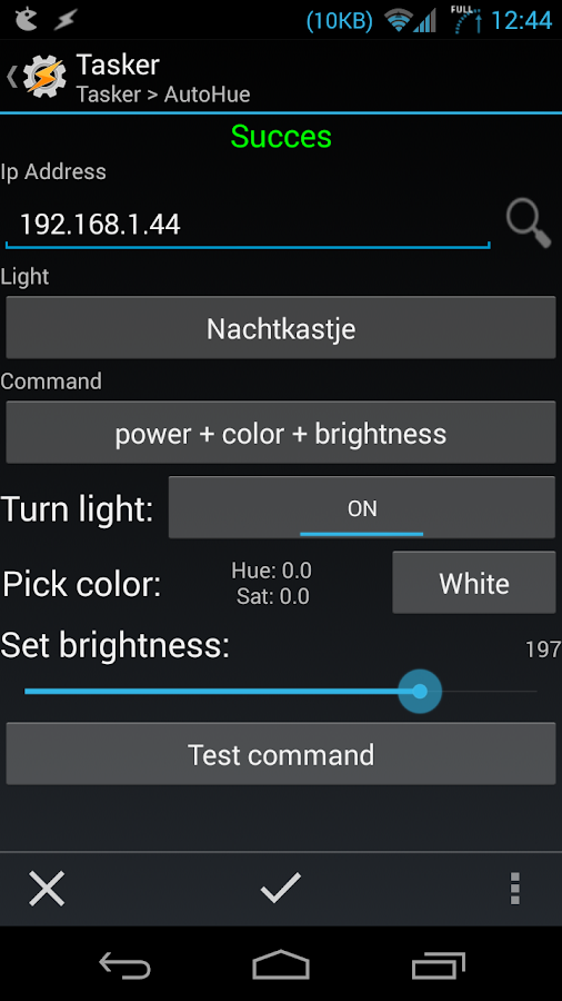 AutoHue (Tasker Plug-in) Screenshot 0