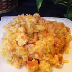 Cheesy Squash Casserole With Ritz