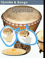 Screenshot of Virtual Djembe & Bongo