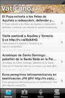 Screenshot of Vaticano Noticias Radio Biblia
