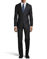 Hugo Boss Pasini Pinstripe Two-Piece Suit, Black - (40S)