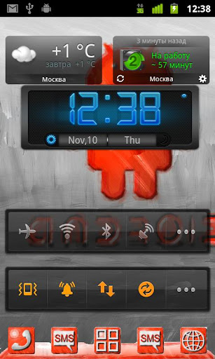 red oil theme go launcher ex