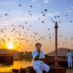 Jalmahal by Adityendra Solanki - People Street & Candids ( nikkor 17-55mm f/2.8, jaipur, tourism india, rajasthan, turban, jalmahal, india, nikon d7000, tourism rajasthan )