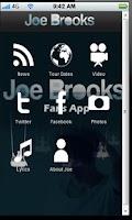 Screenshot of Joe Brooks Fan APP