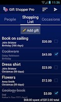 Screenshot of Gift Shopper Pro