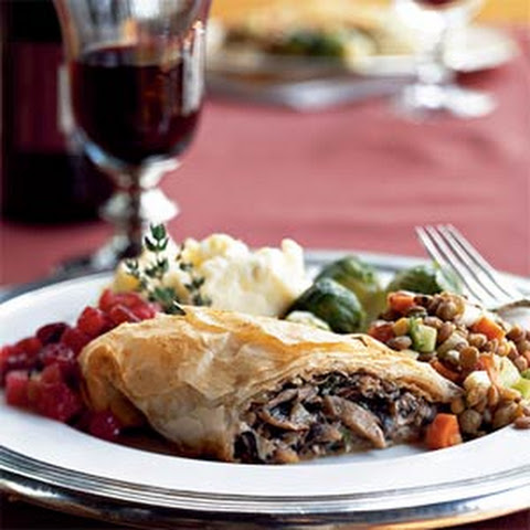 Mushroom and Caramelized-Shallot Strudel
