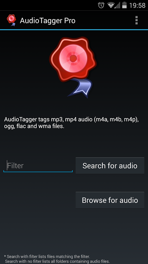 AudioTagger - Tag Music Screenshot 0