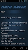 Screenshot of Math Racer