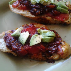 Avocado Cristo With Cherry Tomato Jam and Balsamic Reduction