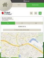 Screenshot of TicketFinder Belgium
