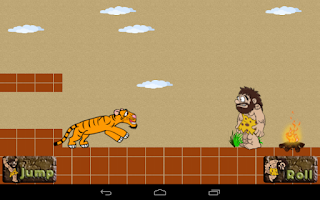 Screenshot of Caveman Tiger Chase