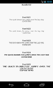 Fonts for FlipFont 162 - screenshot