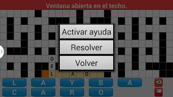 Screenshot of Crosswords spanish