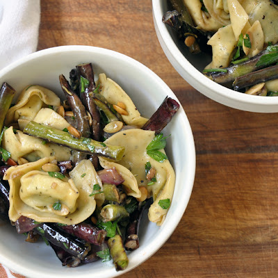 Roasted Green Bean Tortellini Salad