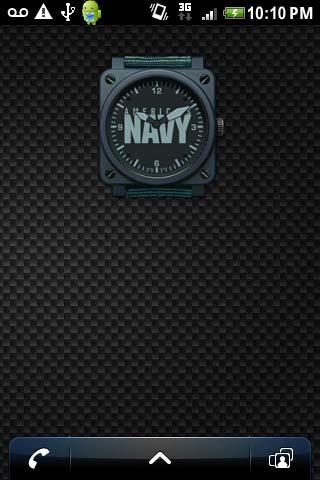 US NAVY ANALOG CLOCK WIDGET