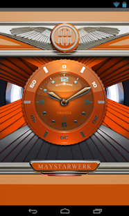 Clock Widget Orange Star - screenshot