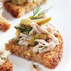 Tuna & Green Olive Crostini