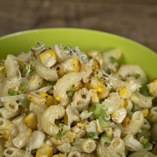 Grilled Corn Pesto Macaroni Salad Recipe