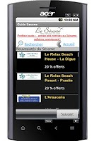 Screenshot of Le Guide Sésame