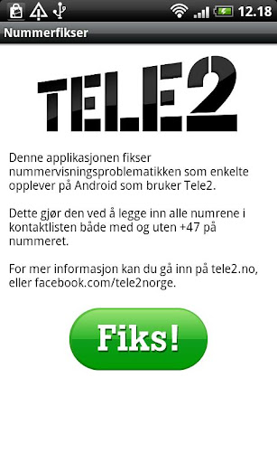 Tele2 Number Fix