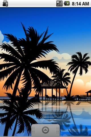 熱帶度假村動態壁紙