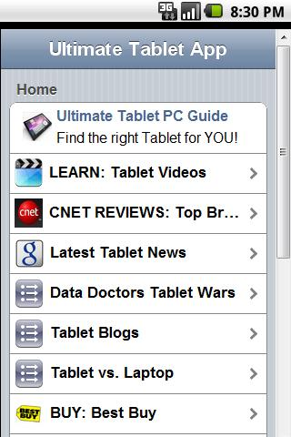 Ultimate Tablet PC App