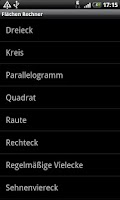 Screenshot of Flächenrechner