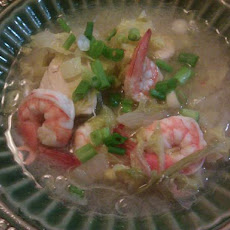 South Beach Thai Shrimp Soup With Lime and Cilantro