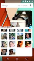 Screenshot of Contact Panel Widget