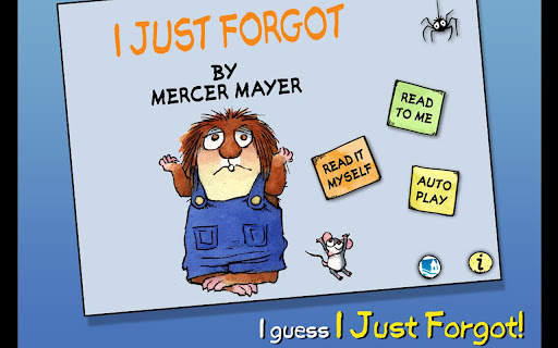 玩書籍App|I Just Forgot - Little Critter免費|APP試玩