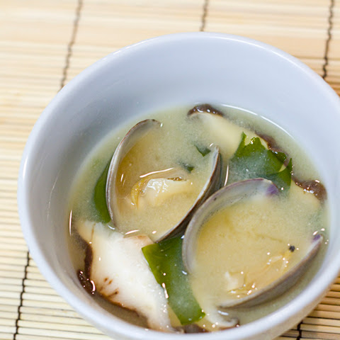 Miso Soup with Clams, Shiitake Mushrooms, & Wakame
