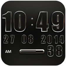 Clock Widget Black Elephant