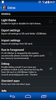 Screenshot of LED Blinker Notifications