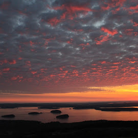 The Glories of a Sunrise by Megan Moore - Landscapes Sunsets & Sunrises ( nature, atlantic ocean, maine, islands, sunrise )