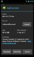 Screenshot of tTorrent Lite (for x86)