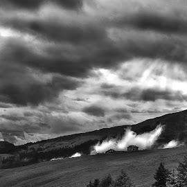 Fog Invasion by Luca Guido - Landscapes Cloud Formations ( #mountain, #clouds, #fog )