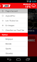 Screenshot of 7sur7.be Mobile