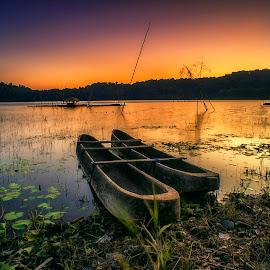 Twins by Bayu Adnyana - Transportation Boats ( bali, boats, transportation, boats boating, boat, tamblingan )